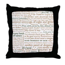 Shakespeare Insults Throw Pillow