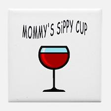 MOMMY DRINKS Tile Coaster