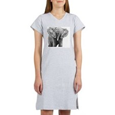 Baby African Elephant Pillow Ca Women's Nightshirt