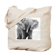 Baby African Elephant Pillow Case Tote Bag