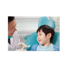 Dentist teaching the right way of Rectangle Magnet