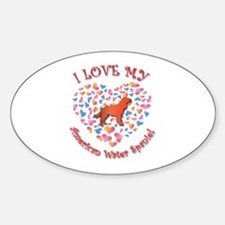 Love Spaniel Oval Decal