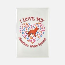 Love Spaniel Rectangle Magnet (100 pack)