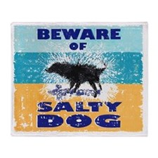 Salty Dog Mouse Pad Throw Blanket