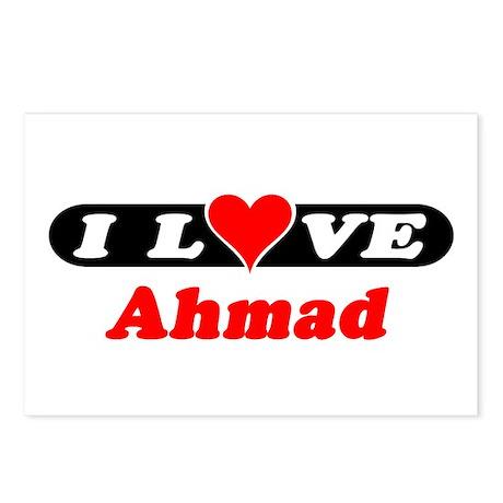 I Love Ahmad Postcards (Package of 8)