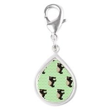 Honey Badger Silver Teardrop Charm