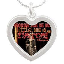 Midsummer Nights Dream Fierc Silver Heart Necklace