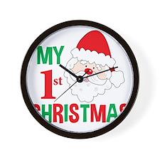 My 1st Christmas Santa Claus Wall Clock