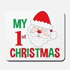 My 1st Christmas Santa Claus Mousepad