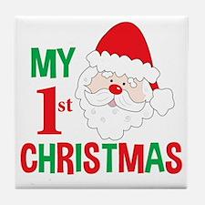 My 1st Christmas Santa Claus Tile Coaster