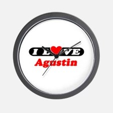 I Love Agustin Wall Clock