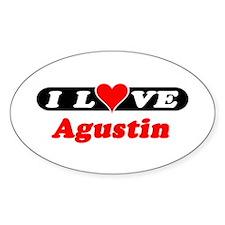 I Love Agustin Oval Decal