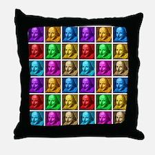 Pop Art Shakespeare Throw Pillow
