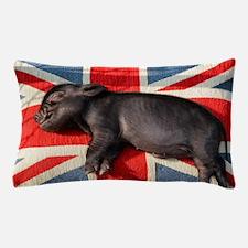 Micro pig sleeping on Union cushion Pillow Case