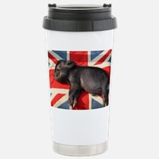 Micro pig sleeping on U Travel Mug
