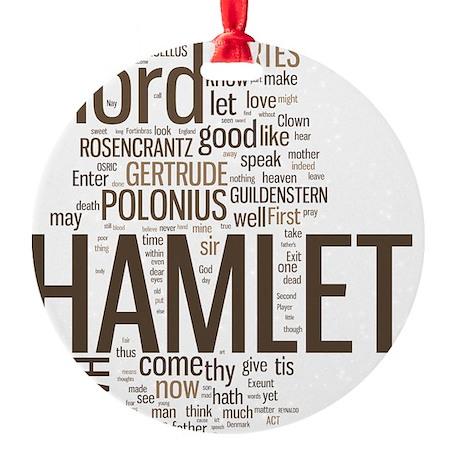 hamlet-collage Round Ornament