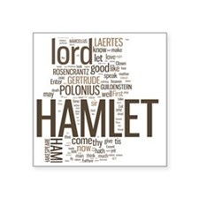"hamlet-collage Square Sticker 3"" x 3"""