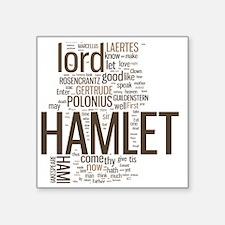 "hamlet-collage Square Sticker 3"" x 3"""