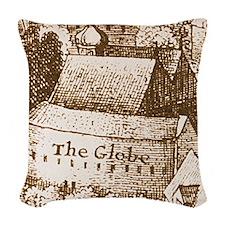 globetheatre2 Woven Throw Pillow