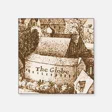 "globetheatre2 Square Sticker 3"" x 3"""