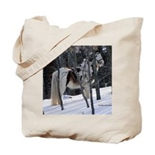 Gypsy Gelding in Winter Setting Tote Bag