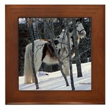 Gypsy Gelding in Winter Setting Framed Tile