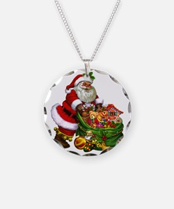 Santa Claus! Necklace Circle Charm