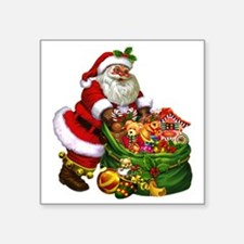 "Santa Claus! Square Sticker 3"" x 3"""