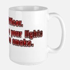 Sorry Officer Large Mug
