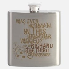 Shakespeare Richard III Quote Flask