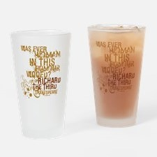 Shakespeare Richard III Quote Drinking Glass