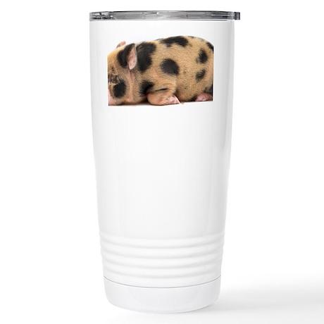 Micro pig sleeping Stainless Steel Travel Mug