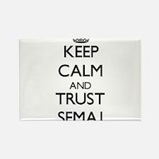 Keep Calm and TRUST Semaj Magnets