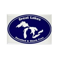 GREAT LAKES SHARK FREE Rectangle Magnet