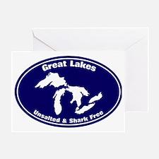 GREAT LAKES SHARK FREE Greeting Card