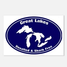 GREAT LAKES SHARK FREE Postcards (Package of 8)