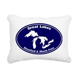 Great lakes Throw Pillows
