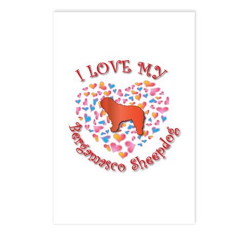 Love Bergamasco Postcards (Package of 8)
