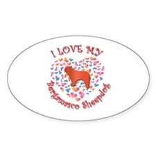Love Bergamasco Oval Decal