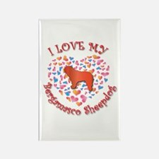 Love Bergamasco Rectangle Magnet (100 pack)