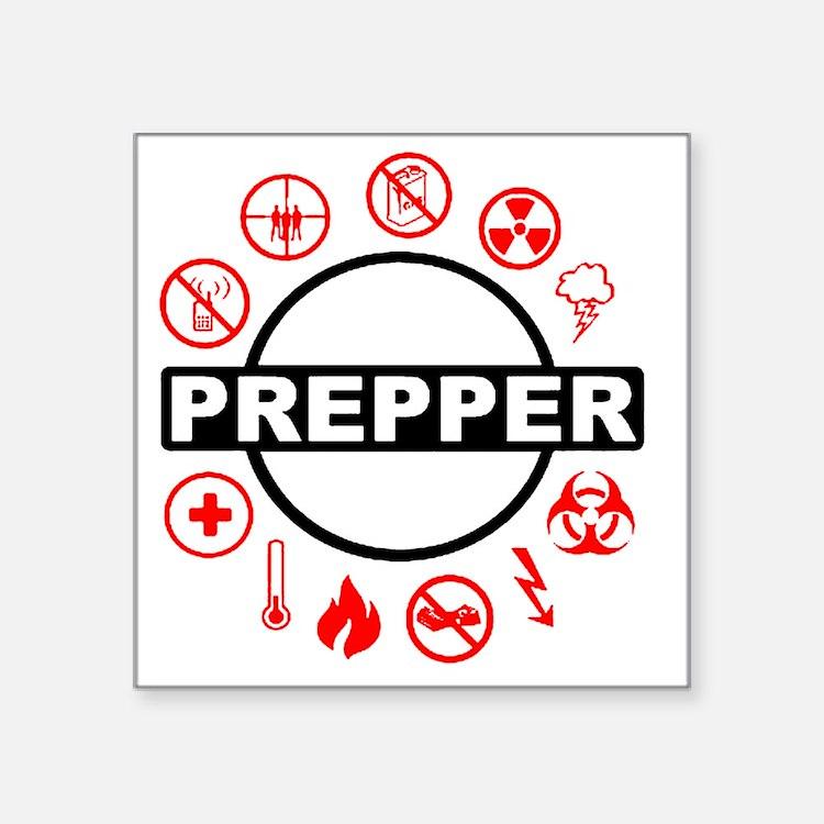 """prepper Square Sticker 3"""" x 3"""""""