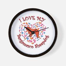 Love Bergamasco Wall Clock