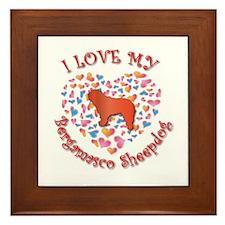 Love Bergamasco Framed Tile