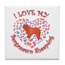 Love Bergamasco Tile Coaster