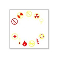 "prepper Square Sticker 3"" x 3"""
