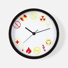 prepper Wall Clock