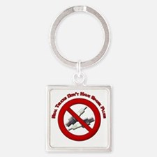 Real trucks dont have spark plugs  Square Keychain