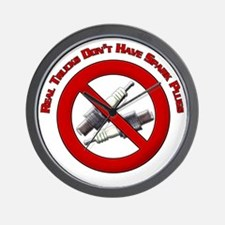 Real trucks dont have spark plugs Desig Wall Clock