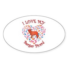 Love Berger Oval Decal