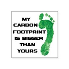 "my carbon footprint Square Sticker 3"" x 3"""